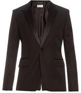 Saint Laurent Satin-lapel Wool Tuxedo Jacket
