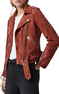 AllSaints Balfern Suede Biker Jacket