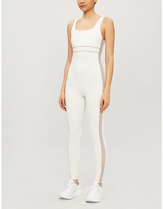 Vaara Katie square-neck stretch-woven jumpsuit