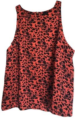 Topshop Tophop Orange Top for Women