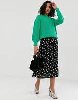 Vero Moda floral midi skirt with lacing detail