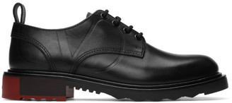 Valentino Black Garavani V-Logo Leather Derbies
