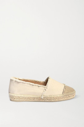 Castaner Net Sustain Kampala Frayed Canvas Espadrilles - Cream
