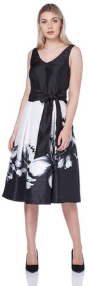 M&Co Roman Originals floral print fit and flare dress