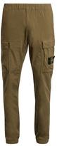 Stone Island Logo-patch Stretch-cotton Cargo Trousers