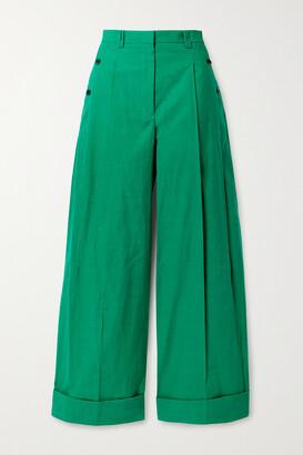 3.1 PHILLIP LIM - Cotton-blend Wide-leg Pants - Green