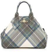 VIVIENNE WESTWOOD Medium Derby Handle Bag-Light Blue Multi