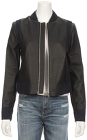 THE MIGHTY COMPANY The Cannes Leather Suede Bomber Jacket