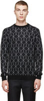 Christopher Kane Black Mohair 3D Cube Sweater