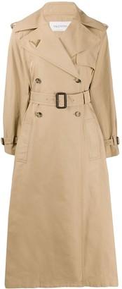 Valentino belted midi trench coat