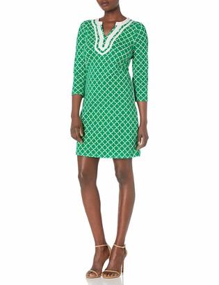 Pappagallo Women's 3/4 Sleeve Embellished Dress