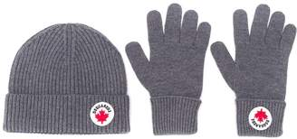 DSQUARED2 beanie and gloves set