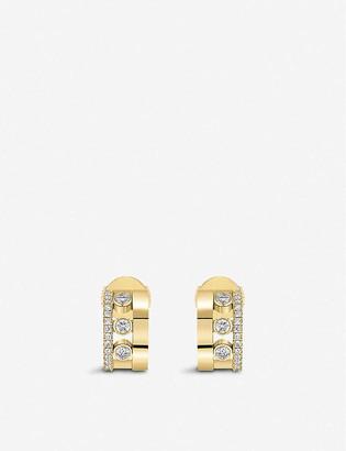 Messika Romane 18ct rose-gold and diamond mini earrings