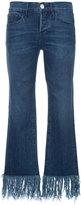 3x1 fringed hem skinny jeans - women - Cotton - 24