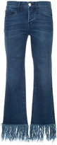 3x1 fringed hem skinny jeans