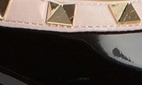 Valentino Rockstud Pointed Toe Ballerina Flat