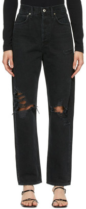 AGOLDE Black 90s Mid-Rise Loose Fit Jeans