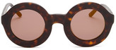 Wildfox Couture Women's Twiggy Deluxe Round Acetate Frame Sunglasses