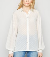 New Look Chiffon Spot Puff Sleeve Shirt
