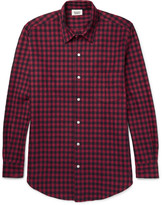 Sleepy Jones - Noah Checked Cotton-flannel Pyjama Shirt