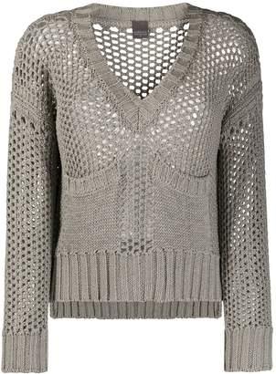 Lorena Antoniazzi open knit v-neck jumper