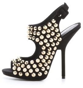 Giuseppe Zanotti Peep Toe Suede Sandals
