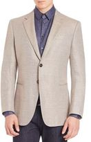 Giorgio Armani Micro Check Wool Jacket