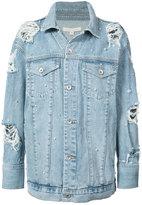 Jonathan Simkhai denim beaded jacket