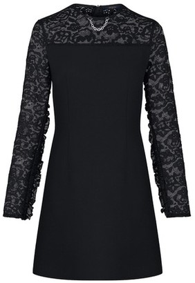 Louis Vuitton Monogram Lace Frill Sleeve Dress