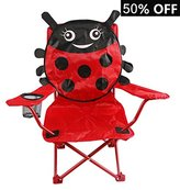 Goldsun Comfortable Kids outdoor folding Lawn and Camping Chair W/Catoon design for children (Ladybug)