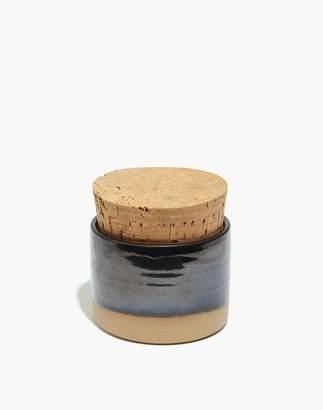 Madewell SETTLE Ceramics Salt Jar in Royal Speckle