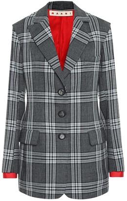 Marni Checked wool blazer