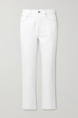 GRLFRND Helena High-rise Straight-leg Jeans - White