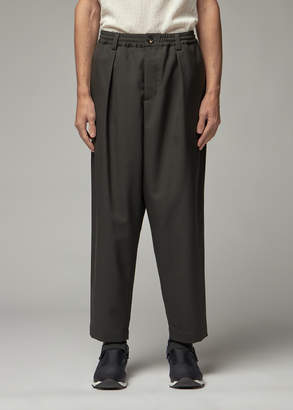 Marni Men's Wool Twill Elastic Waist Trouser Pants in Dark Grey Size 46 100% Wool