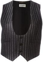 Saint Laurent pinstripe waistcoat