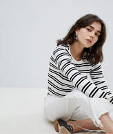 Pieces Striped Jersey Top