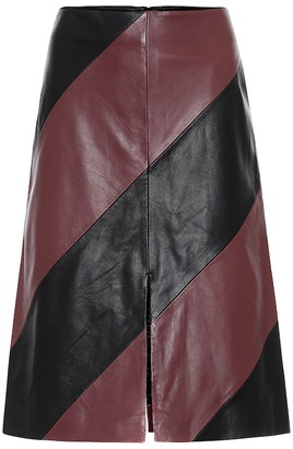 Stand Studio Andrea leather midi skirt