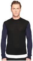 McQ by Alexander McQueen Color Block Crew Neck Sweater Men's Sweater