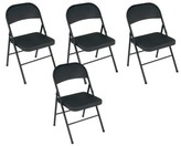"""Cosco Home And Office Metal Folding Chair Home and Office Color: Black, Size: 30.3"""" H x 17.95"""" W 16.75"""" D"""