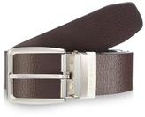 Jeff Banks Black And Dark Brown Reversible Leather Belt