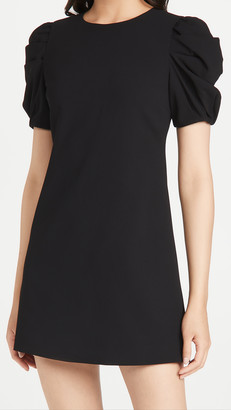 Alice + Olivia Hanita Short Puff Sleeve Shift Dress