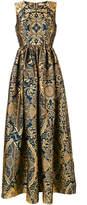Mary Katrantzou Shaw sleeveless jacquard dress