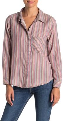 Susina Long Sleeve Curved Hem Shirt (Regular & Petite)
