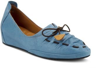 Spring Step Leather Comfort Wedge Slip-ons - Badriya