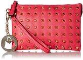 MG Collection Kyrie Gothic Studded Wristlet Mini Purse Handbag