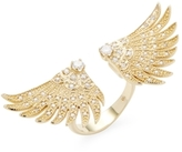 Mizuki 14K Gold Double Wings Diamond Ring