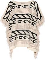 W118 by Walter Baker Alex intarsia-knit poncho
