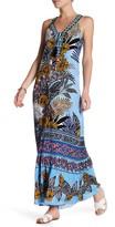 Hale Bob V-Neck Embellished Print Dress
