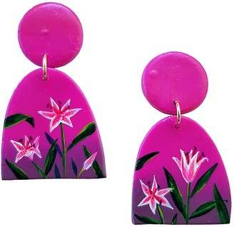 Emily Laura Designs Dark Sunset Lily Clip On Arch Earrings
