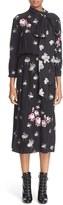 Marc Jacobs Tie Neck Ballerina & Floral Jacquard Dress
